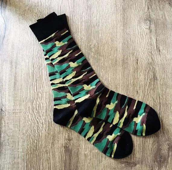 camo dress socks by the yarddd