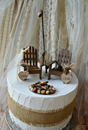 cute outdoorsy cake topper by morgan the creator