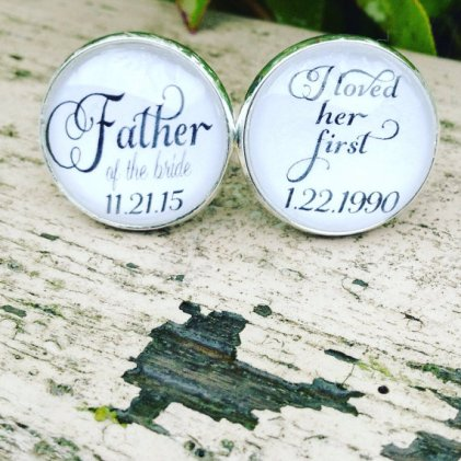 Of all the walks we ve taken quot cuff links for dad emmaline bride
