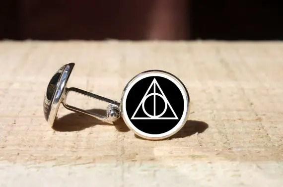 harry potter deathly hollows cufflinks