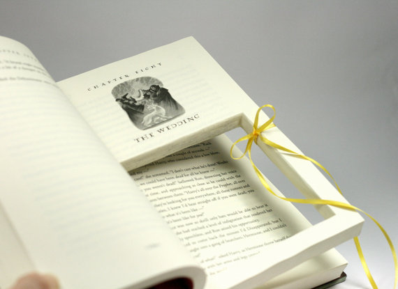 harry potter ring holder book wedding