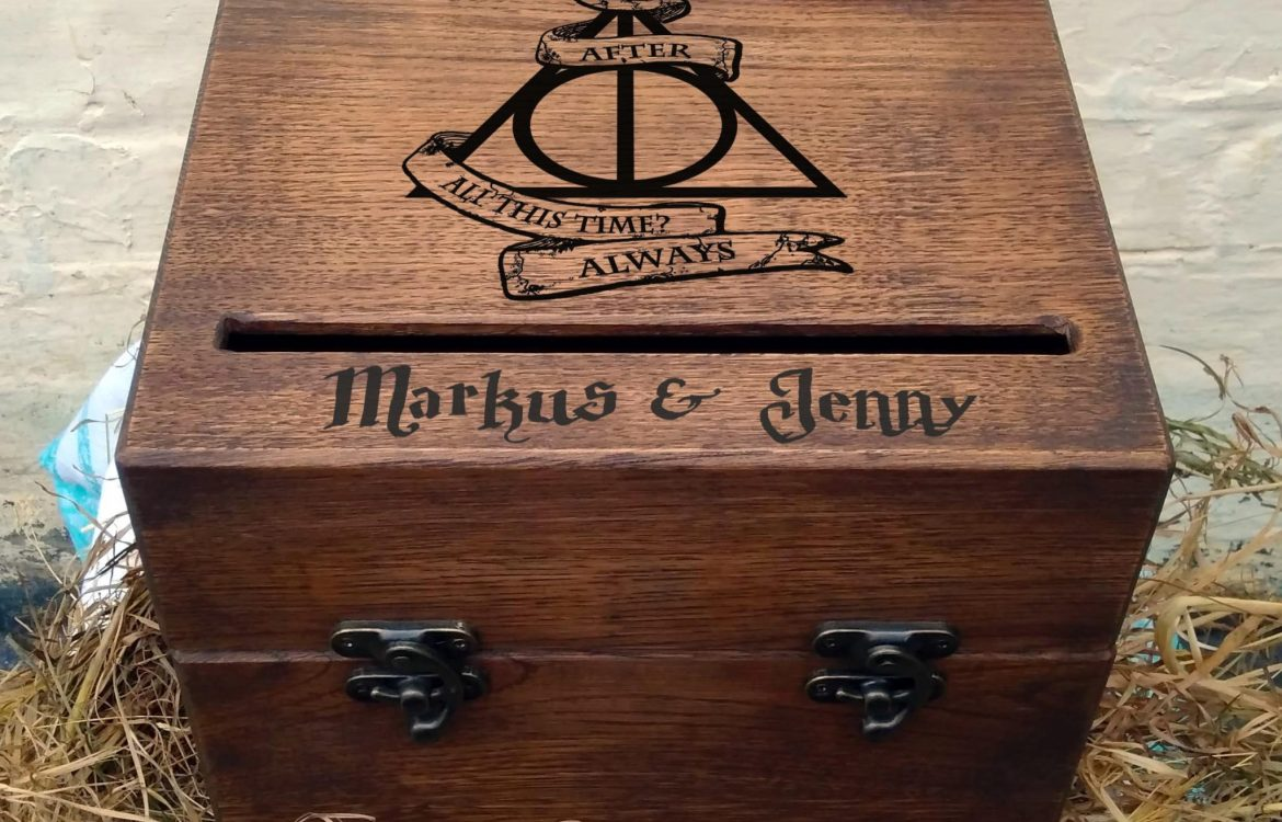 harry potter wedding card box