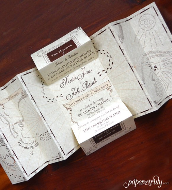 wedding invitation basket ideas 50 best harry potter ideas for weddings emmaline - Harry Potter Wedding Invitations