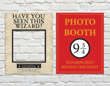harry potter wedding photo booth props4