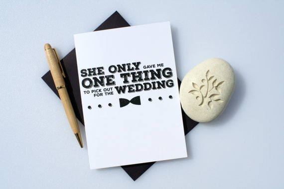 one thing to pick out for wedding