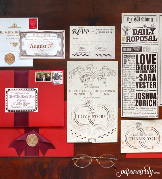50 best harry potter ideas for weddings emmaline bride wedding blog harry potter wedding invitation addressed - Harry Potter Wedding Invitations