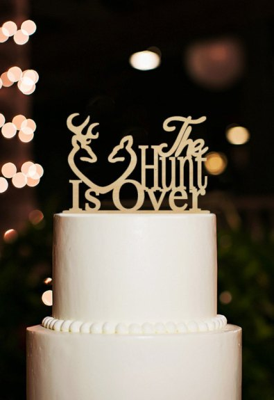 the hunt is over cake topper by designcmc