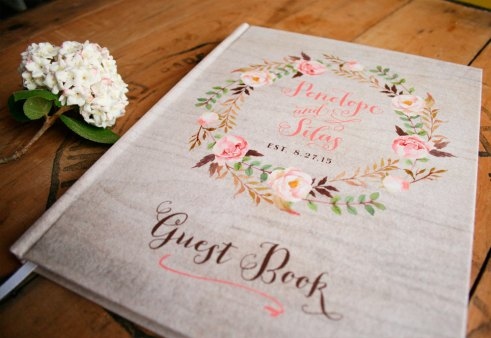 floral guest book by paperstreetpress