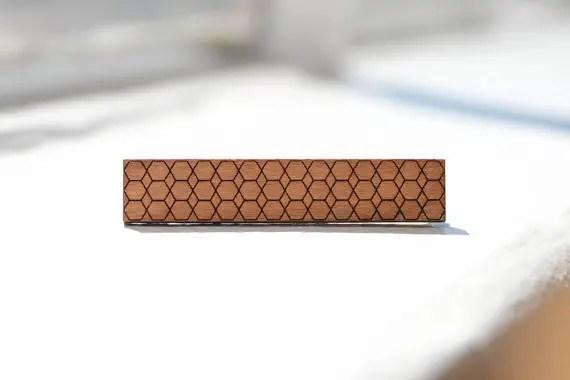 hexagon tie bar by birdofvirtue