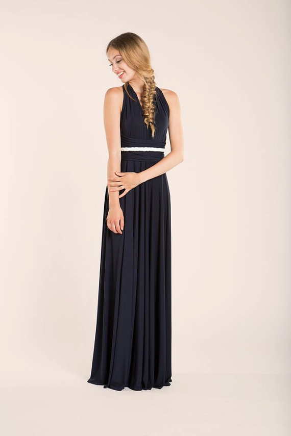 infinity navy bridesmaid dress by mimetik
