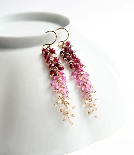 ombre valentines day earrings by laurastark