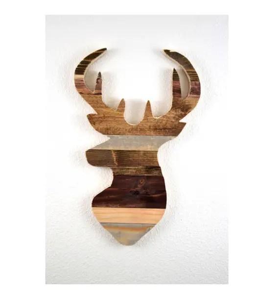rustic deer silhouette wall art by mintage designs