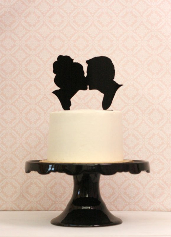 custom cameo cake topper