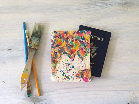 splatter map passport cover