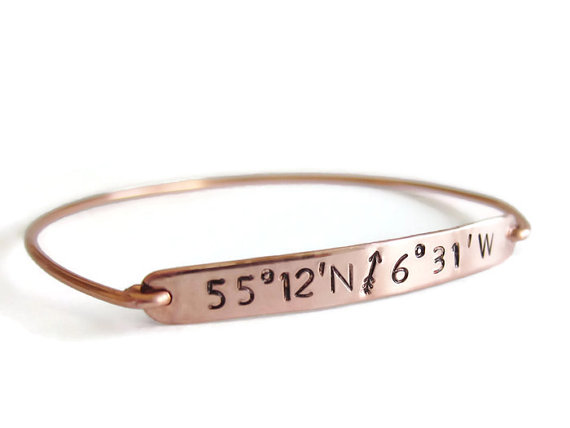 bangle bracelet latitude and longitude