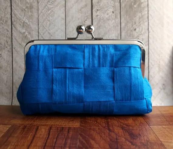 blue evening bag bridesmaids