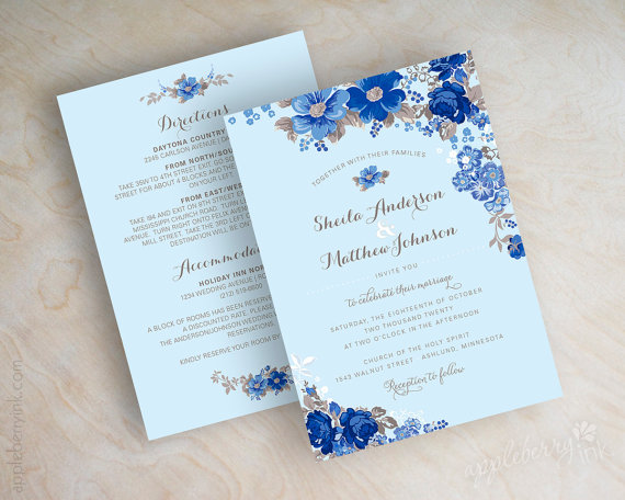 Royal Blue Wedding Invitation Cards: 30+ Sapphire Blue Wedding Ideas You'll Want To Steal