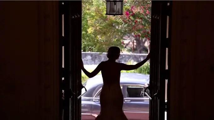 bride shadow doorway | A Luxurious Wedding at the Kohl Mansion (California Weddings) | http://www.emmalinebride.com/real-weddings/a-luxurious-wedding-at-the-kohl-mansion-real-wedding-video/ | Film (Wedding Video): Baby Blue Film