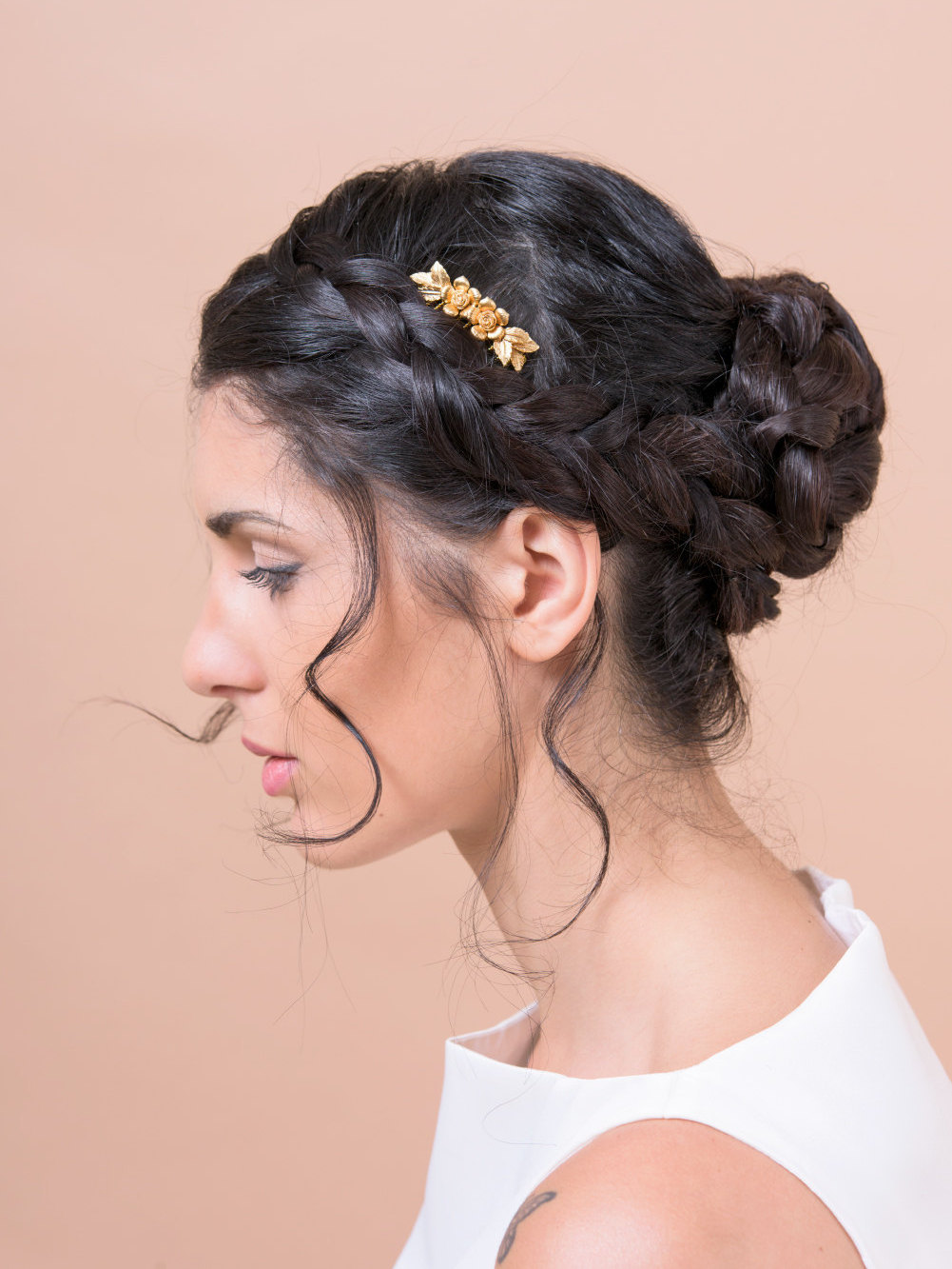 flowers and leaves hair comb by Bridal Ambiance | bridal veil alternative via http://emmalinebride.com/bride/bridal-veil-alternatives/ ‎  | any hairstyle