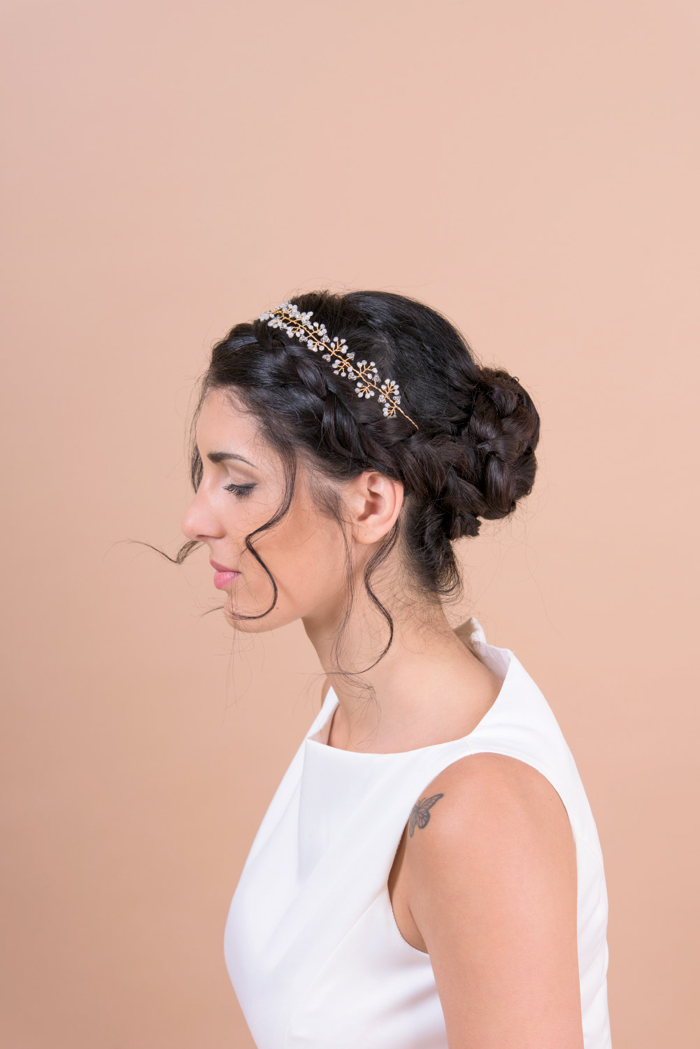 hair vine headband by Bridal Ambiance | bridal veil alternative via http://emmalinebride.com/bride/bridal-veil-alternatives/ ‎  | any hairstyle