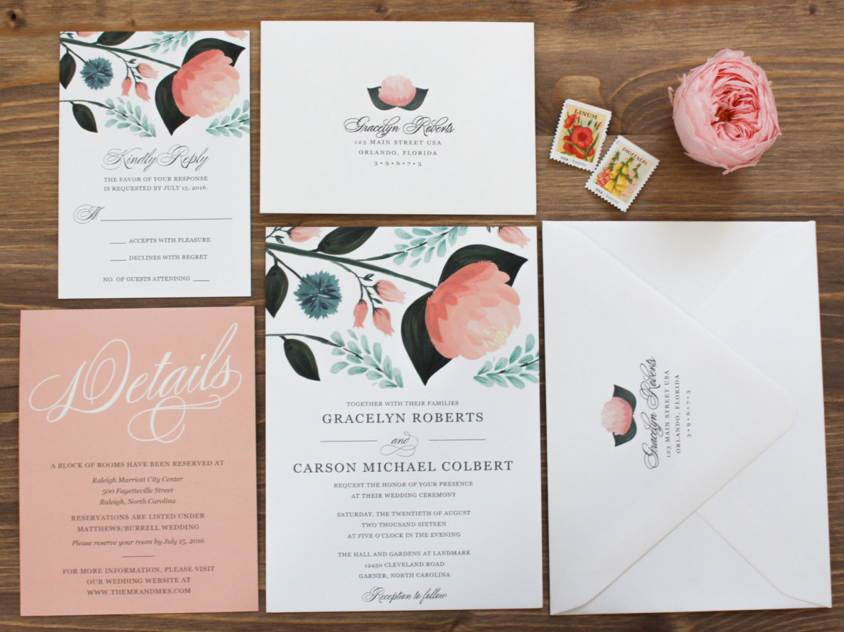 Peach Mint Wedding Colors: Inspiration Board