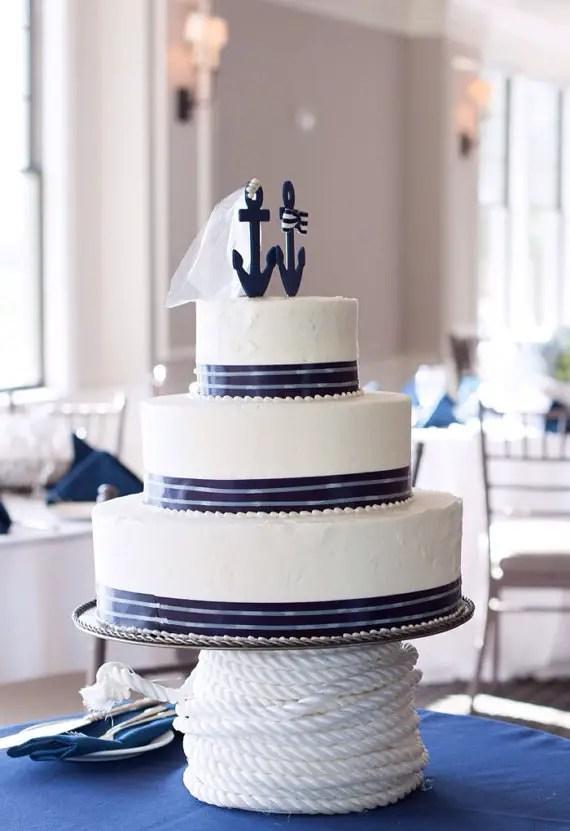 Nautical Cake Topper By Nauticalweddings | Via 50+ Nautical Wedding Theme  Ideas At EmmalineBride.