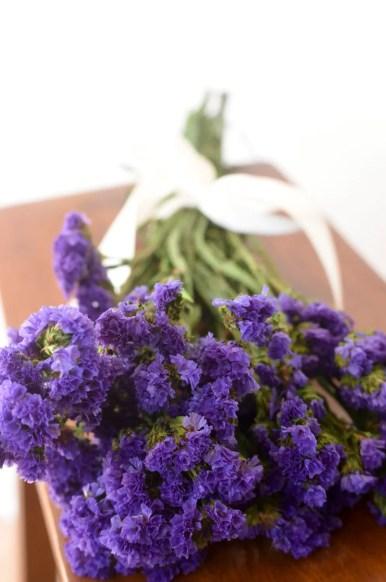 purple statice dried bouquet
