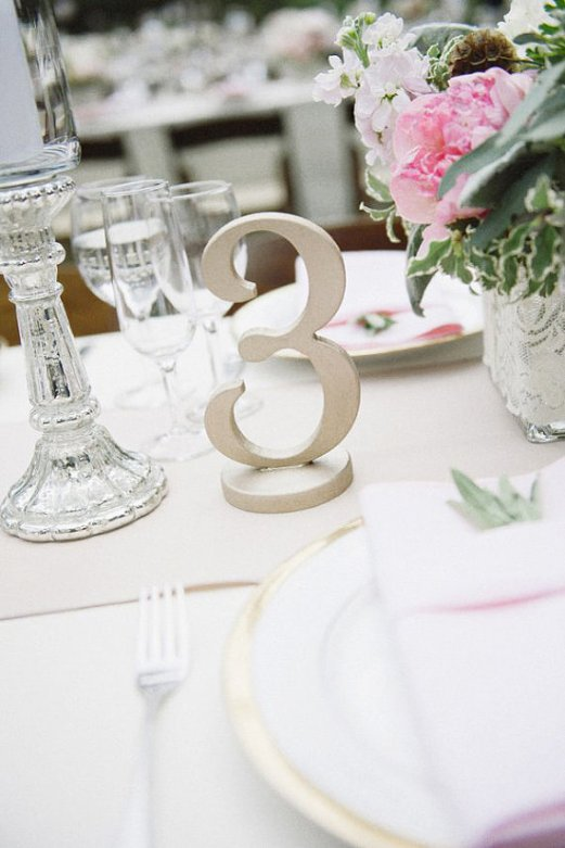 silver table number