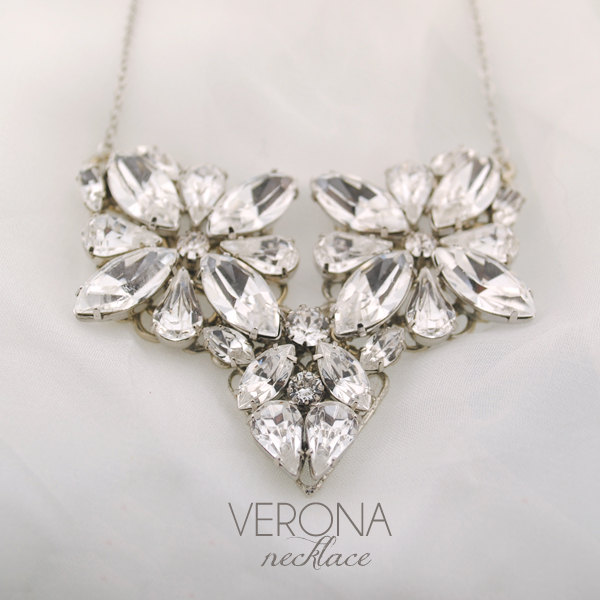 verona crystal bridal necklace