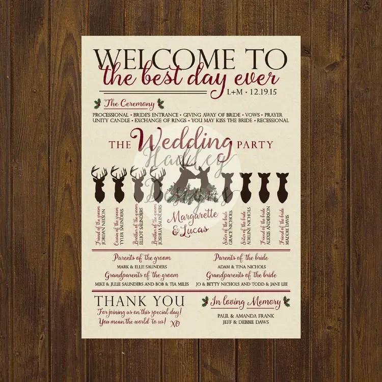 traditional wedding program