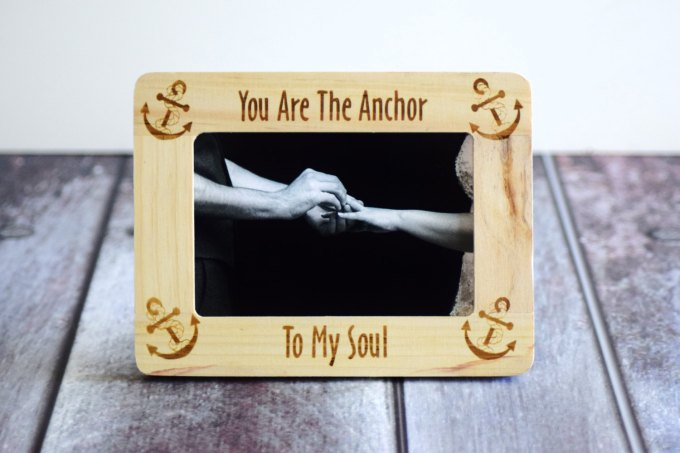 you are the anchor wood frame nautical wedding by CustomWoodWonders | via 50+ nautical wedding theme ideas at EmmalineBride.com