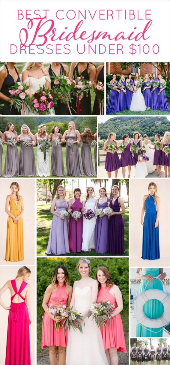 best convertible dresses for bridesmaids