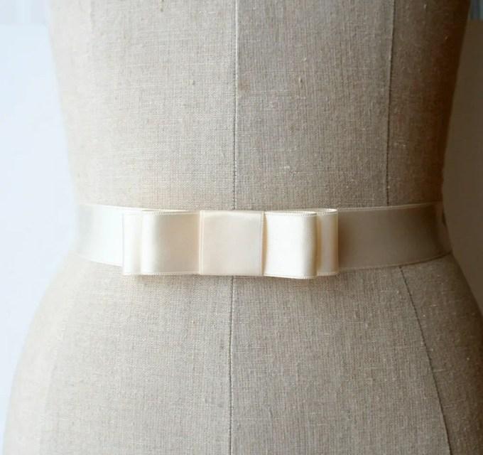 bridal bow sash
