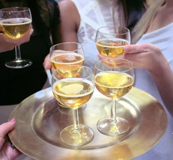 celebrating custom wine glasses