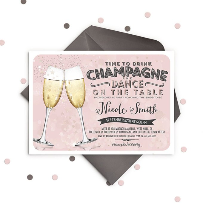 How To Plan An Awesome Champagne Bachelorette Party