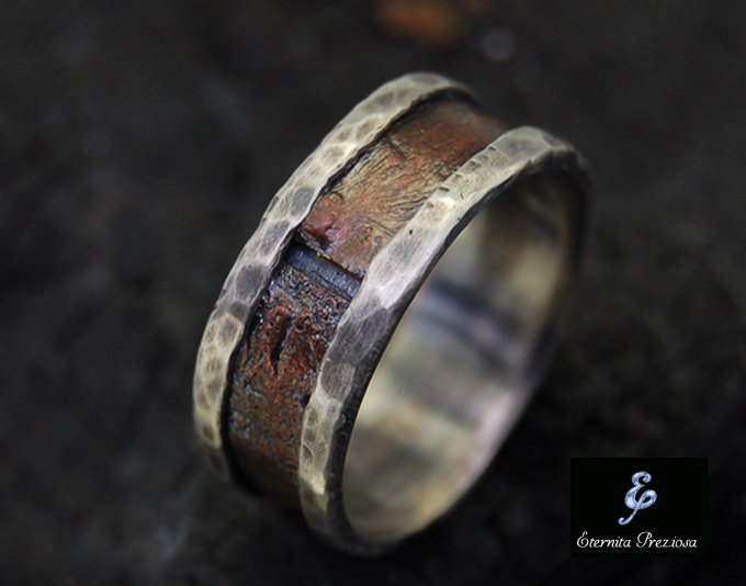 copper mens ring