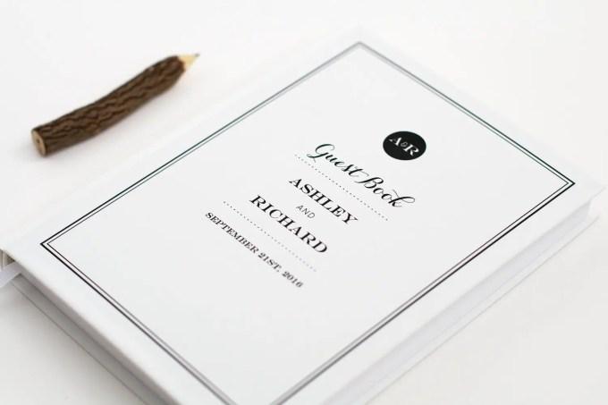 custom modern guest book