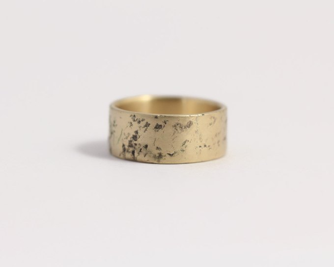distressed wedding band men