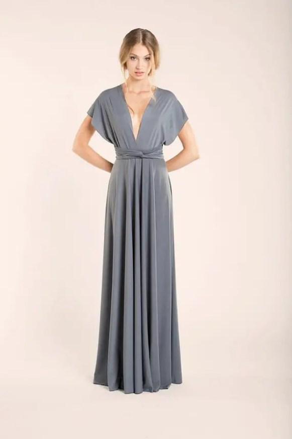 long infinity bridesmaid dress by mimetik