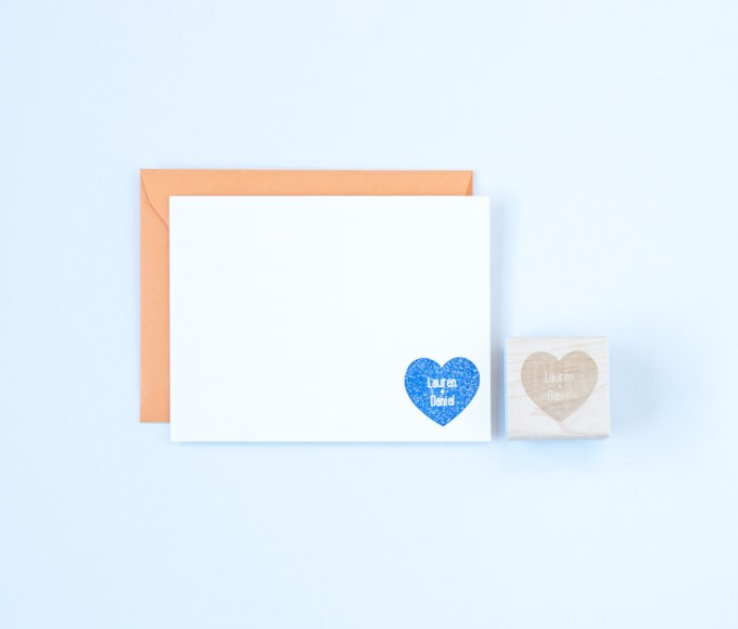 How to Make Thank You Cards for Weddings | stamp by Felicette | via http://emmalinebride.com/how-to/make-thank-you-cards/