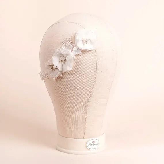 ranunculus flowers hair accessory 2