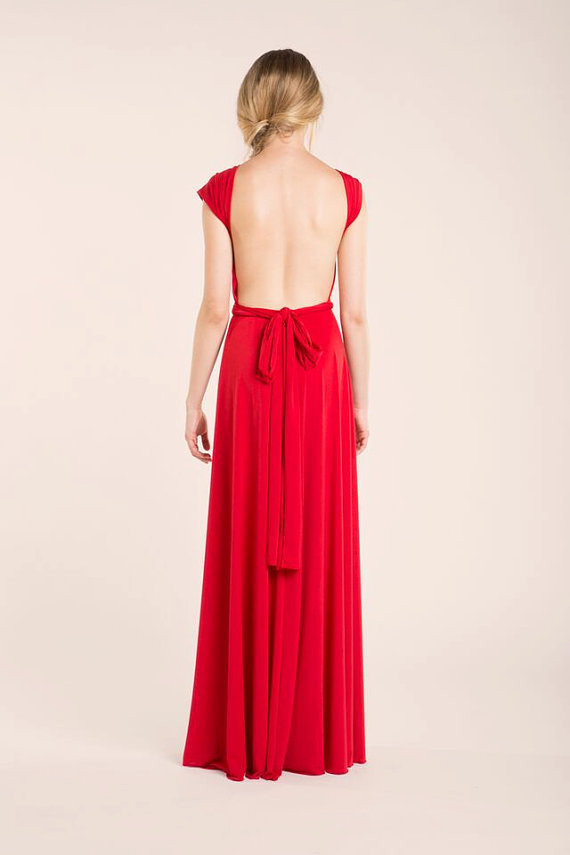 red infinity dress backless