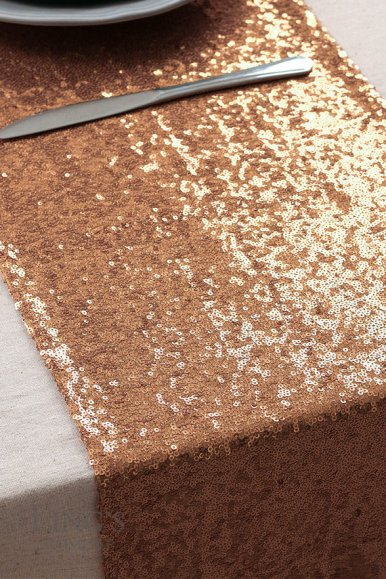 rose gold sequin runner
