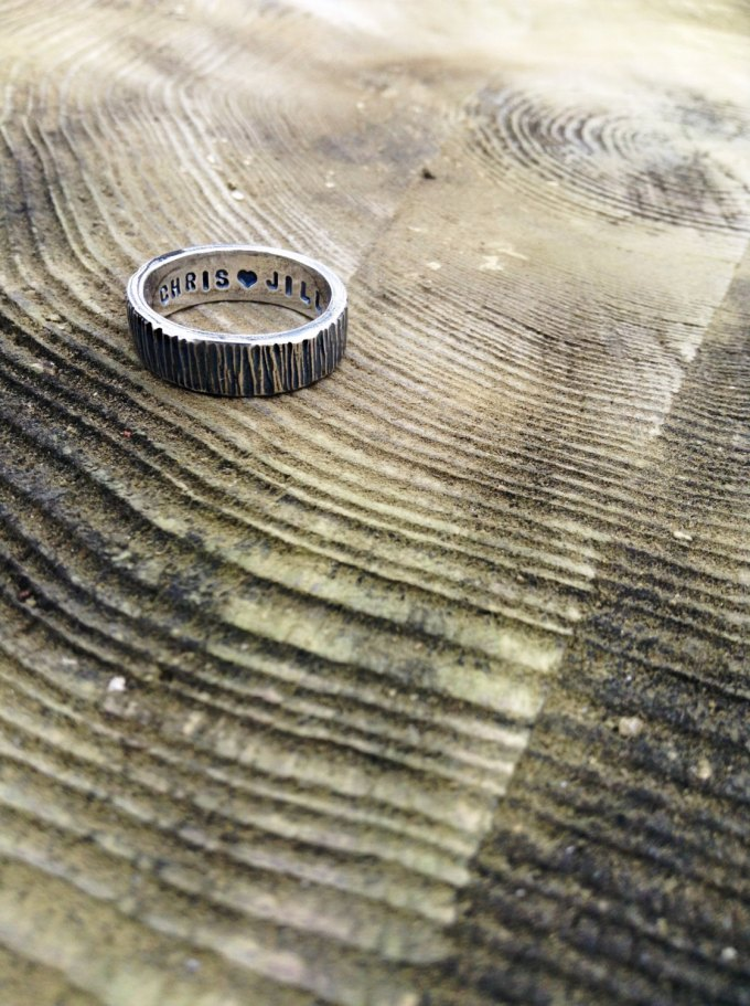 rugged texture mens wedding band | alternative wedding bands for men