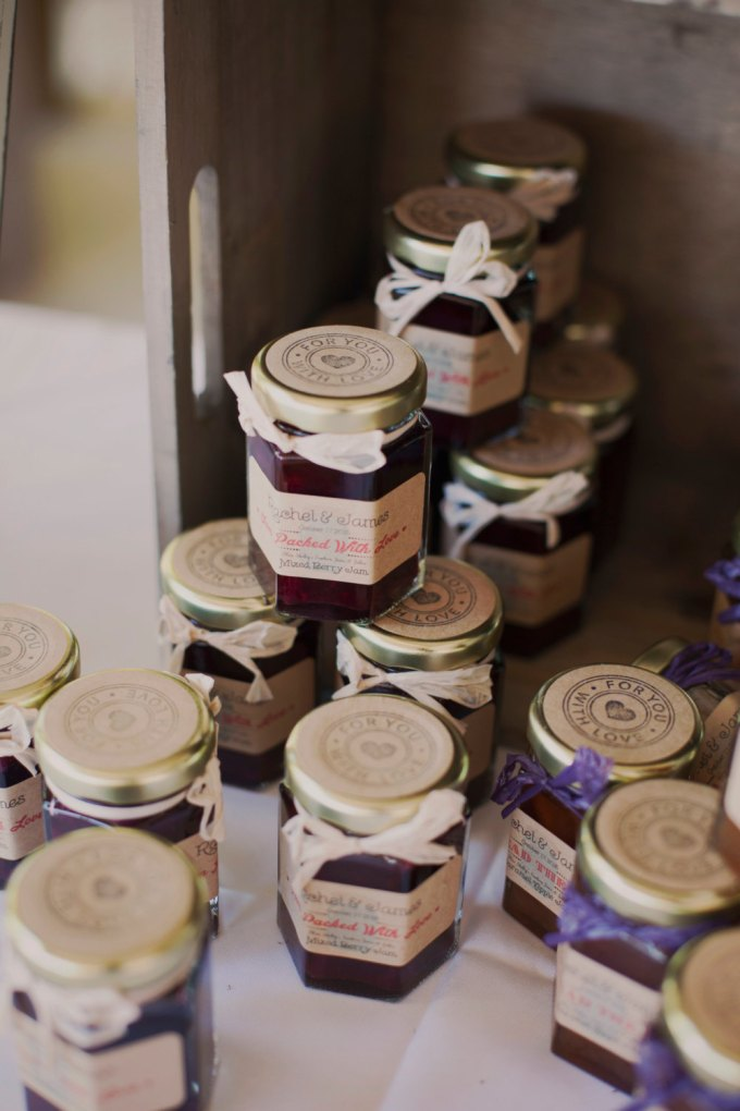 rustic jelly jam favors
