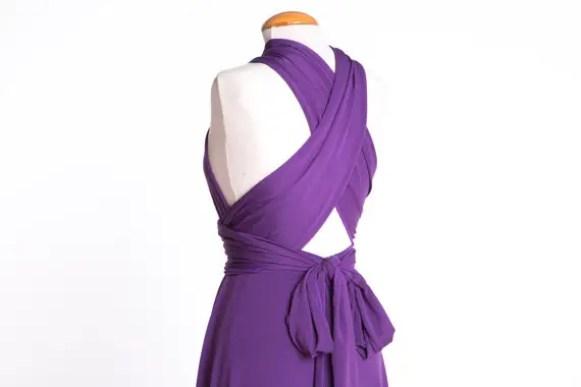 short lilac dress - image three
