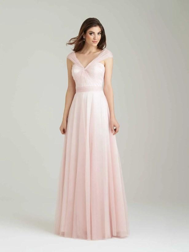 soft tulle bridesmaid dress