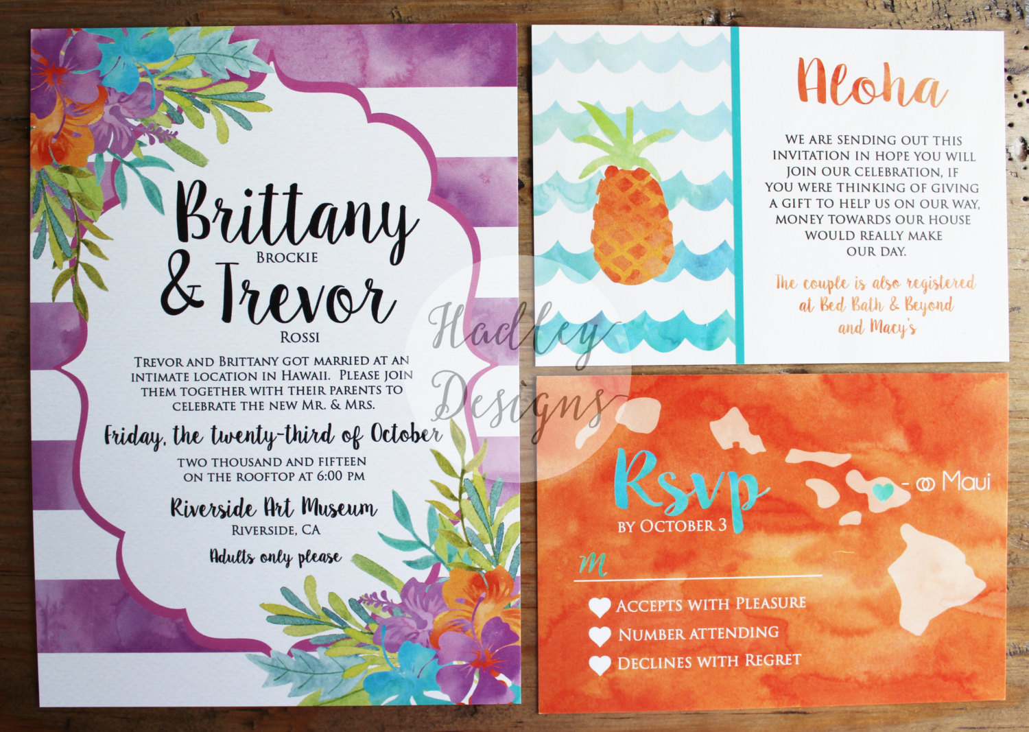 6 Beautiful Tropical Invitations for Weddings | Emmaline Bride ...
