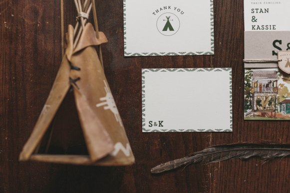 woodland camping invitation 1