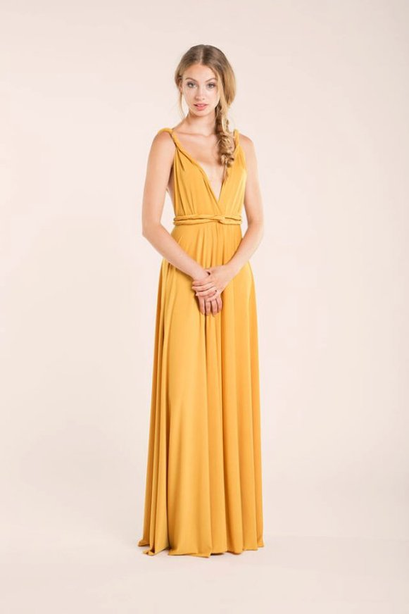 yellow dress front